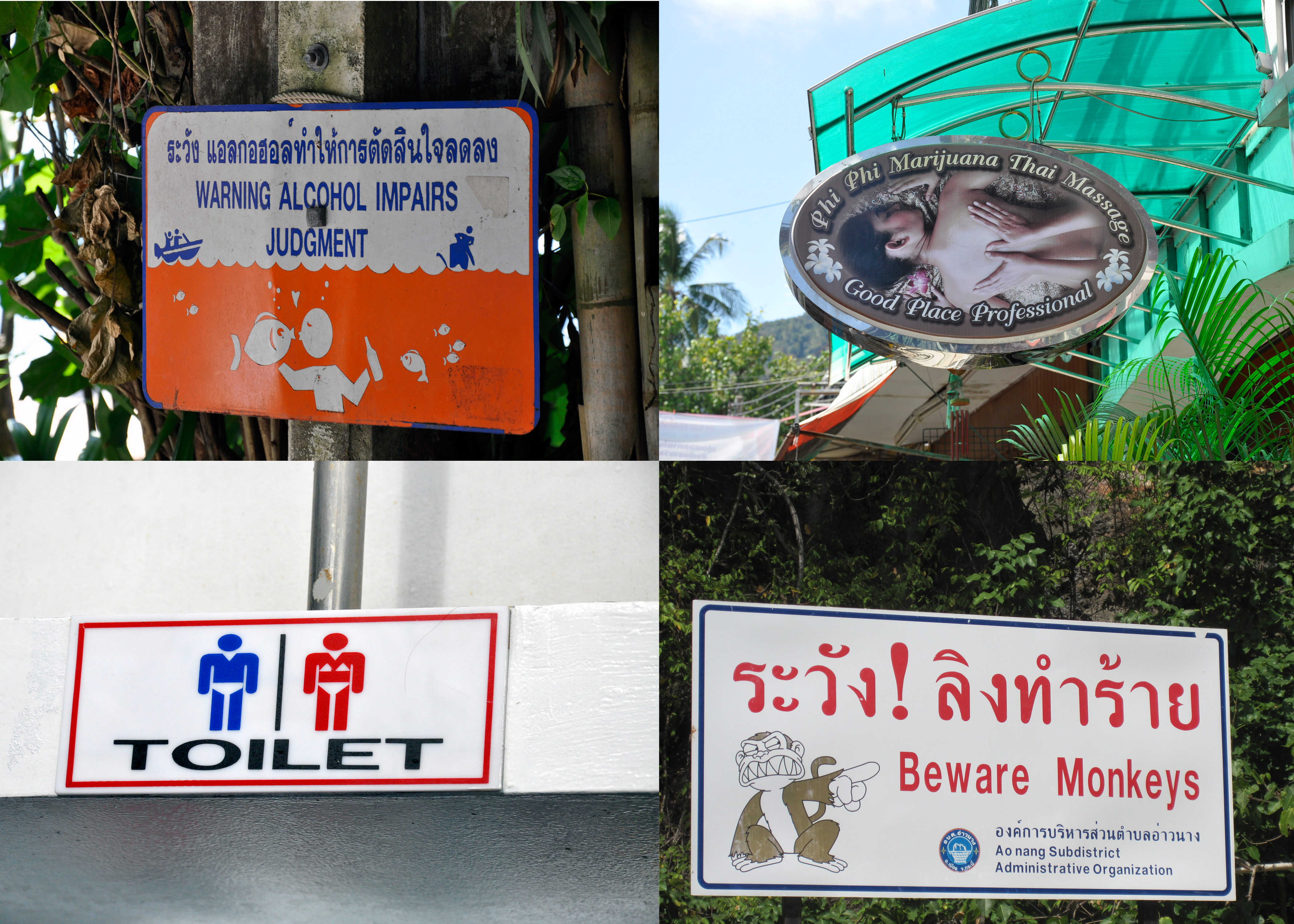 funny signs in thailand