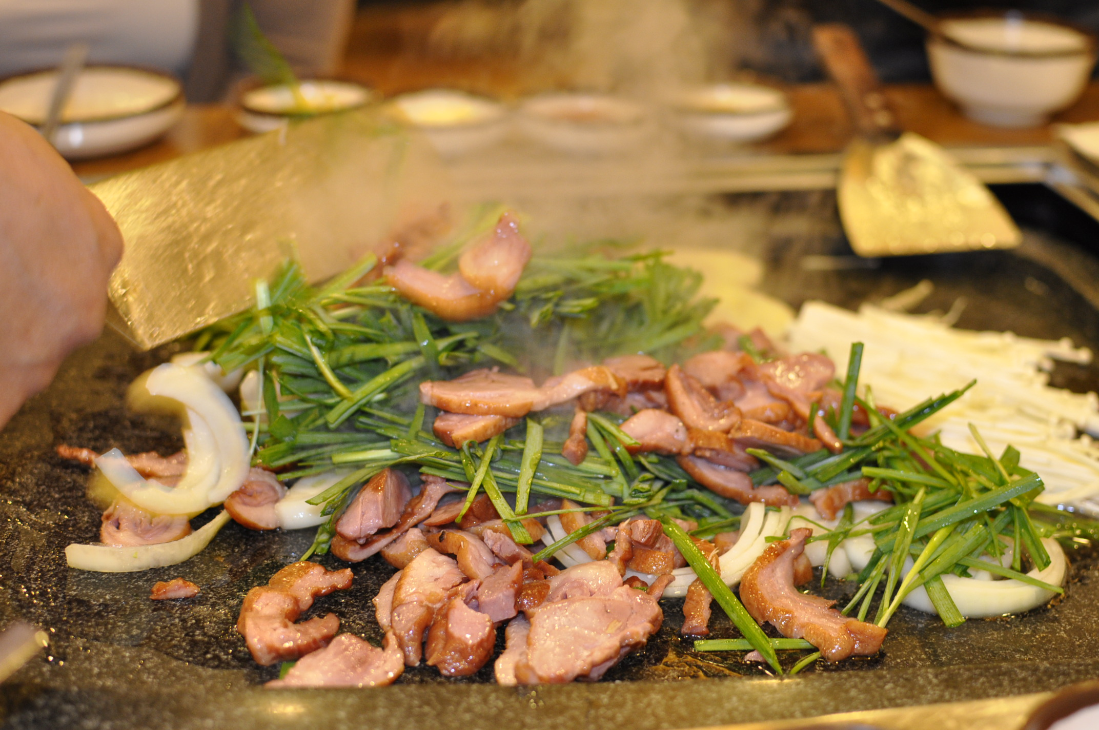 korean food: Duck bbq