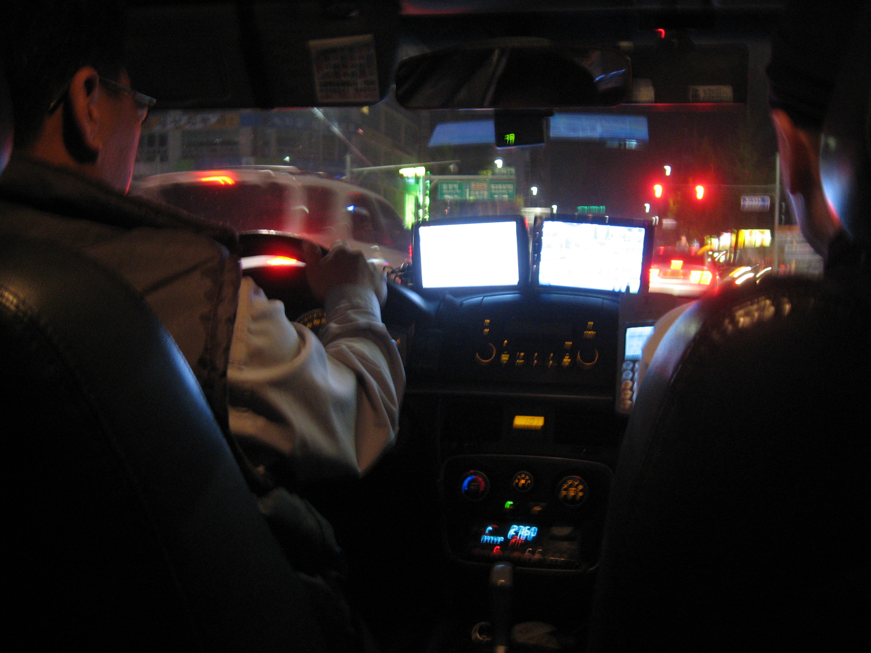 inside a Korean taxi