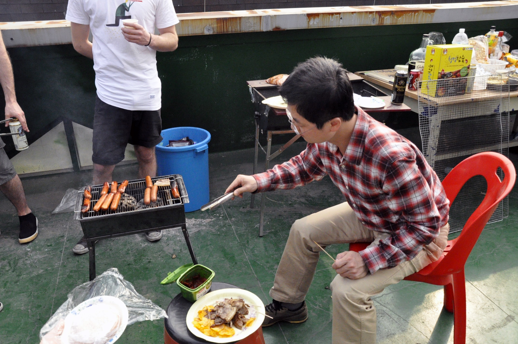 Rooftop bbq in Hanam-si
