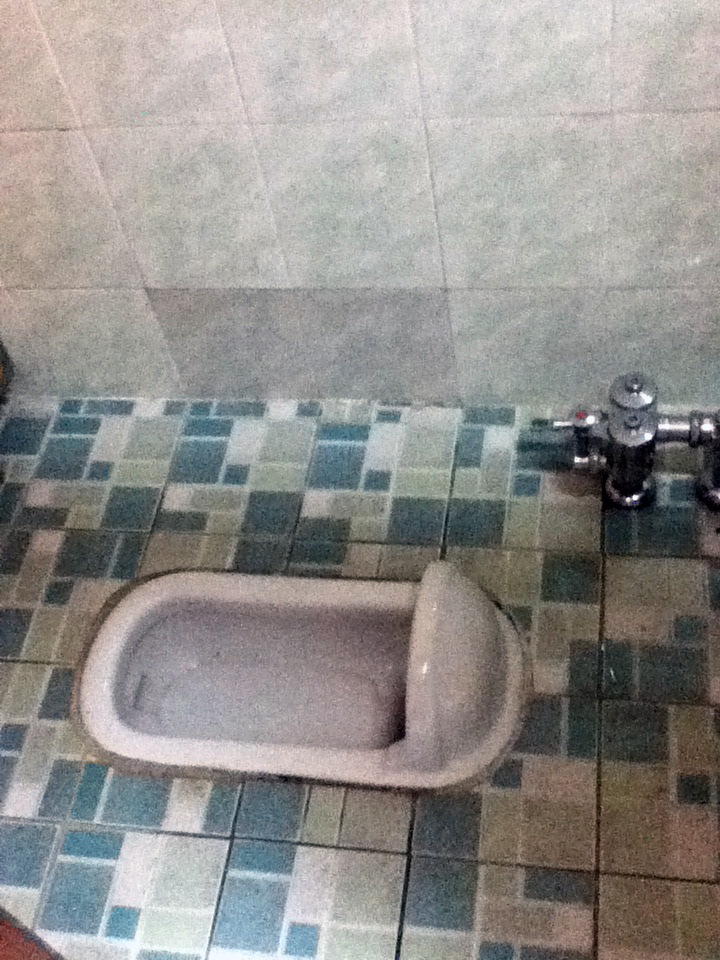 squatter toilet in Korea