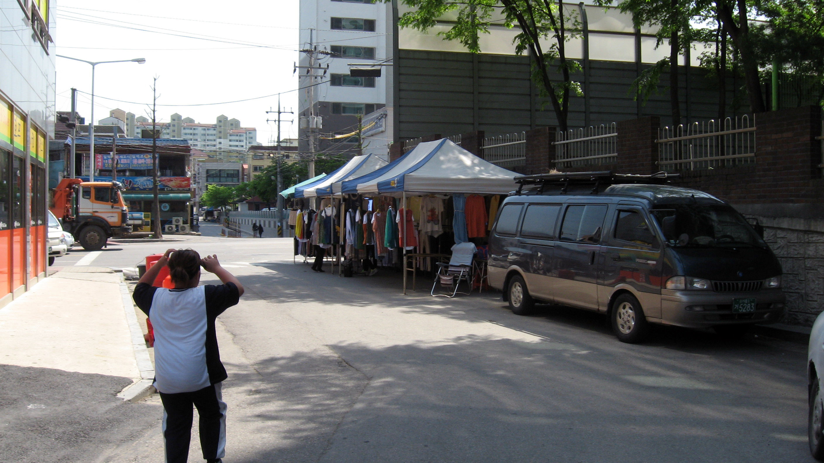 street vendors in Gwangju-si South Korea