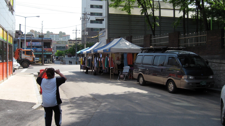 street vendors in Gwangju-si South Korea
